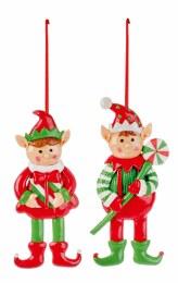 Christmas Hanging Elf Decoration 13cm