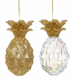 Christmas Glitter Pineapple Decoration 9cm