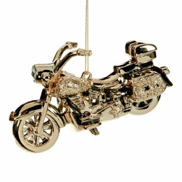 Christmas Glitter Jewel Motorcycle Rosy Gold Ornament with Hanger 12cm