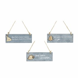 Christmas Sign Hanging Plaques With funny Quotes 7.5x13cm