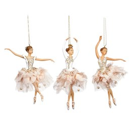 Christmas Decoration Ballerina Swan Lake Pink Dress 19cm
