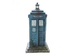 Aquarium Ornament Large Blue Telephone Box