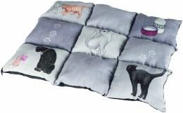 Trixie Patchwork Blanket Cat 55 x 45 cm -Grey