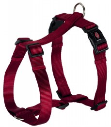 Trixie Premium H Harness Medium-Large Burgundy