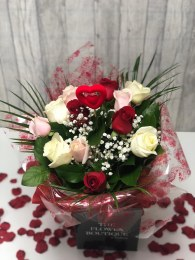 Valentine's Day Dozen Mix Colour Roses