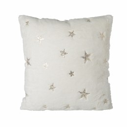 Christmas Luxury White Cushion with Gold Stars 45x45cm