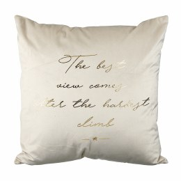 Christmas The Best View Quote Cushion White