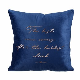 Christmas The Best View Quote Cushion Blue