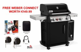 Weber Spirit Premium EP-335 GBS Gas BBQ Black SPECIAL DEAL - INCLUDES FREE WEBER CONNECT