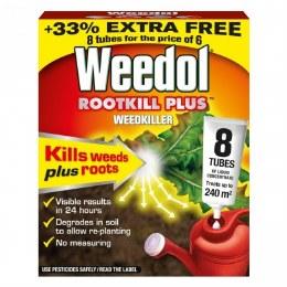 Weedol Rootkill Plus Concentrate Weedkiller 6 Tubes Plus 2 FREE