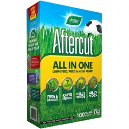 Aftercut All In One Lawn Feed, Weed & Moss Killer 100sqm