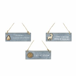 Christmas Create Your Own Winter Wonderland Hanging Plaque with Deer 12 x 4cm