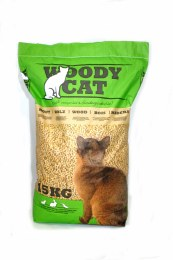 Woody Cat wood based cat litter 25 Litre (15 Kg)