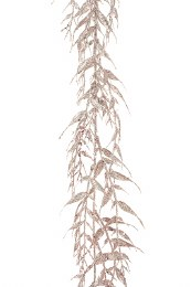 Christmas Garland with Leaf Gold 180cm