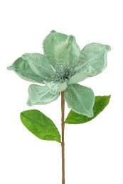 Christmas Silk Flower Spray Magnolia with Velvet 55cm