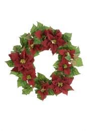 55cm Red Poinsettia Wreath