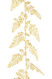 Christmas Gold Sparkle Maidenhair Garland 180cm