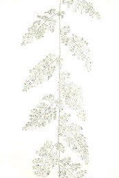 Christmas Silver Sparkle Maidenhair Garland 180cm
