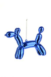 Christmas Blue Balloon Pooch Decoration with Hanger 9cm