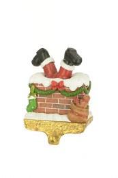 Santa In Chimney Stocking Holder