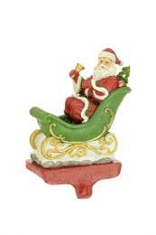Santa & Sleigh Stocking Hanger