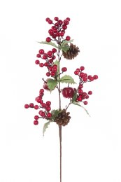 Christmas Berry Pinecone Spray 71cm