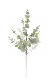 Christmas Eucalyptus White Berry Spray Large 64cm