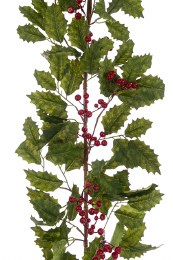 Christmas Holly Berry Garland 165cm