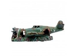 Aquarium Ornament Plane Wreck Extra Large