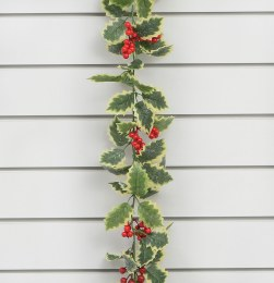 Christmas Holly with Berries Garland 180cm