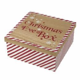 Christmas Eve Wooden Box 30x30x14cm