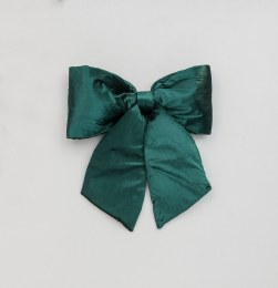 Christmas Bow Plush Green 28cm