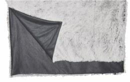 Luxury Fleece Alaska Throw Grey White Faux Fur130cm X 160cm