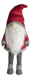 Christmas Plush Gonk Santa Claus with Big Hat & Grey Bearded Giant 150cm Tall