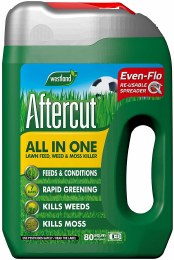 Aftercut All in One Lawn Feed, Weed and Moss Killer 80sqm Spreader