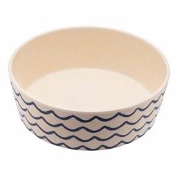 Bamboo Printed Dog Bowl Ocean Waves 800ml