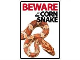Beware Sign Corn Snake
