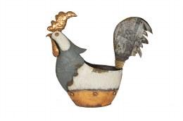 La Hacienda Pot Copper Cockerel 32 x 36 x 9cm