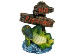 Aquarium Ornament Croc No Fishing Sign