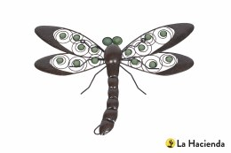 La Hacienda Wall Art Steel Dragonfly