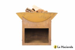 La Hacienda Firepit Fasa Oxidised Cast Iron with Steel Stand