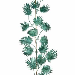 Fan Leaf Green Blue Glitter Garland 150cm