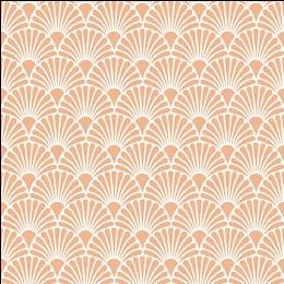 Napkin 33cm Art Deco Coral