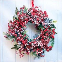 Napkin 33cm Frozen Wreath