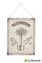 La Hacienda Embossed Steel Sign ''Gardening''