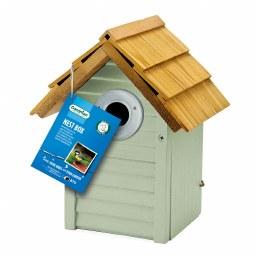 Gardman Beach Hut Nest Box Sage Green