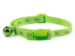 Hi Vis Safety Green Cat Collar