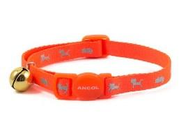 Hi Vis Safety Orange Cat Collar