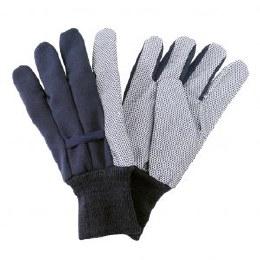 Kent & Stowe Jersey Cotton Grip Glove Navy Men Large