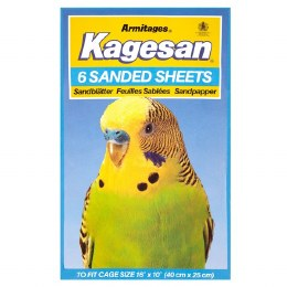 Kagesan  Bird Cage Blue Sanded Sheets 40x25cm